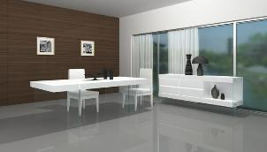 Contemporary style, available in white, black or earth.