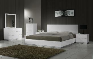 Naples platform bed and contemporary bedroom set