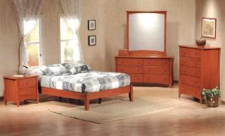Platform beds are available in all bed sizes, with matching dressers and nightstands.