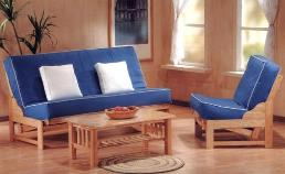 The Tribecca hardwood frame is available in chair, twin size full size and queen size hardwood futon frames and nearly every wood color.